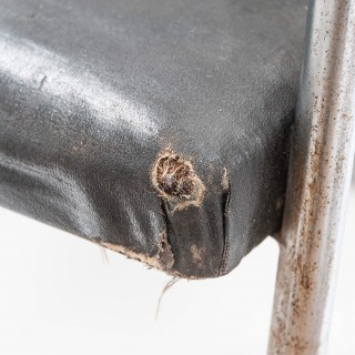 Modernist Chromed Steel Tubular Chair from the Art Deco Period