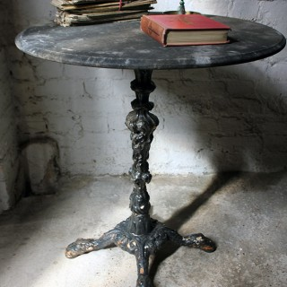 An Attractive Victorian Cast Iron & Marble Topped Occasional Table c.1880