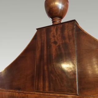Regency  bow fronted mahogany tallboy