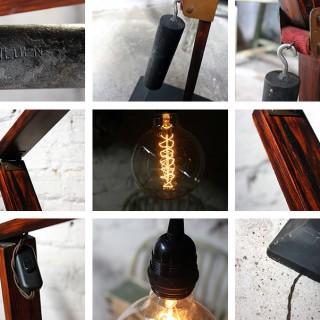 A Superb Large Swedish Mid-Century Scratch Built Cantilever Floor Lamp c.1950-60