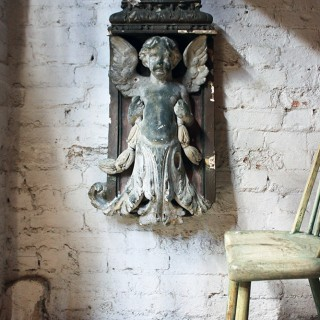 A Beautiful Early 18thC Architectural Angel Figure c.1700-50