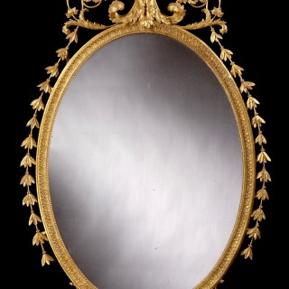 An Antique Adam Style Mirror