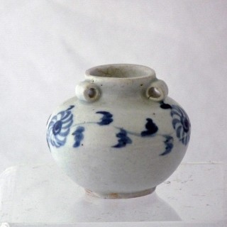 Chinese 13th Century Yuan Blue and White Jar