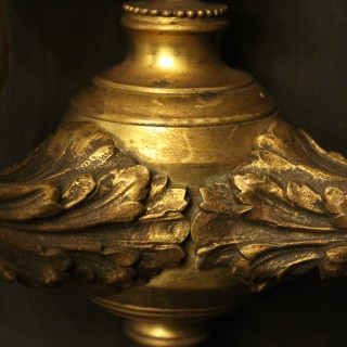 A French Pair Of Bronze Antique Wall Lights