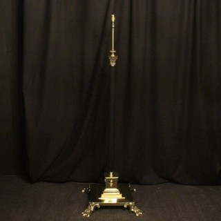 An English Cast Brass Antique Standard Lamp