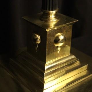 An English Cast Brass Antique Standard Lamp