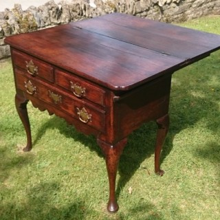 Mid 18th Century Oak Side Table / Tea Table