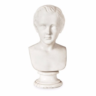 Victorian Marble Bust of a Young Boy