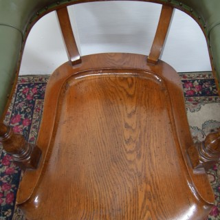 Pair of Scottish Oak Library Armchairs