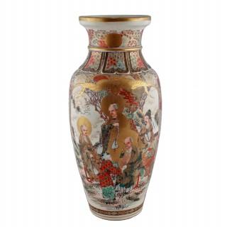 Large Japanese Satsuma Pottery Vase