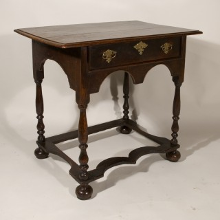 A William and Mary Period Oak Side Table