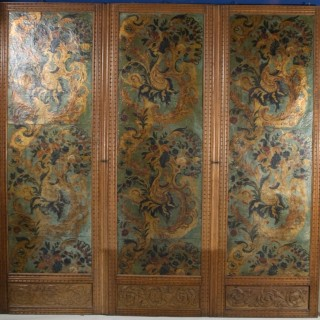 A 17th / 18th Century Leather Screen