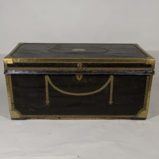 An Early 20th Century Leather Studded Trunk