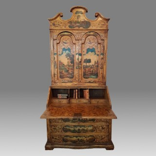 A Late 19th Century Italian Painted Bureau Bookcase