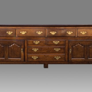 A Large George II Period Oak Cupboard Dresser Base