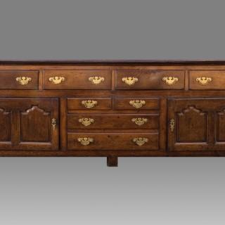 A Large George II Period Oak Cupboard Dresser Base