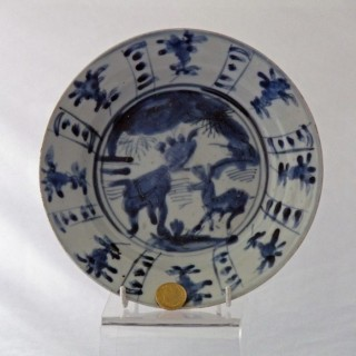 Ming kraak Blue and White  Plate