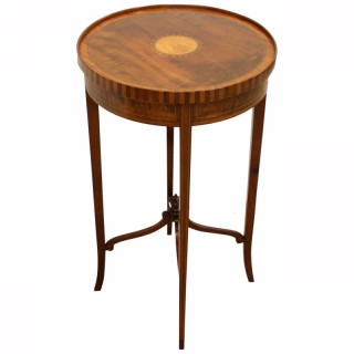 Edwardian Sheraton Style Circular Occasional Table
