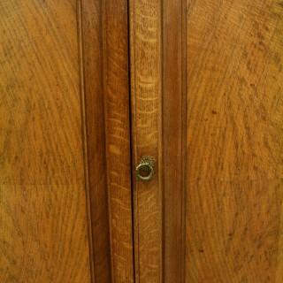 Whytock & Reid Oak Marble Top Side Cabinet