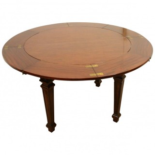 Waring & Gillows Mahogany Circular Dining Table