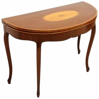 George III Hepplewhite Style Mahogany Card Table