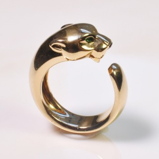 CARTIER GOLD PANTHER RING