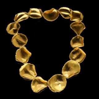 Gold Rose Petal Necklace By Tiffany & Co. c.1979