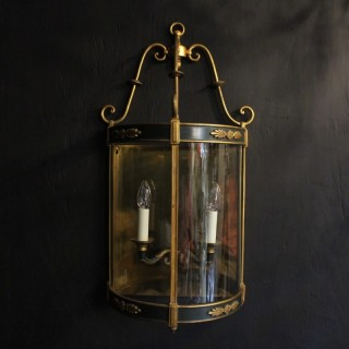 French Empire Antique Half Lantern Wall Light
