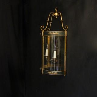 French Empire Antique Half Lantern Wall Light