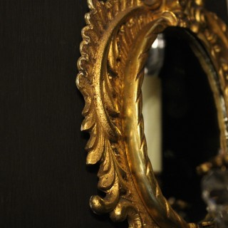 French Pair Of Gilded Antique Girandoles