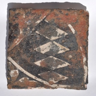 Medieval English floor tile