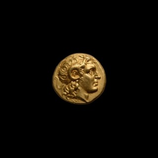 Ancient Greek Gold Alexander Stater Coin of King Lysimachos - 297 BC