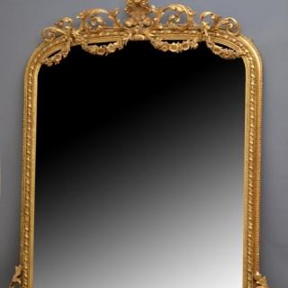 Impressive Victorian Giltwood Mirror