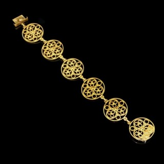 Victorian Gold Openwork Bracelet  By John Brogden, c.1885