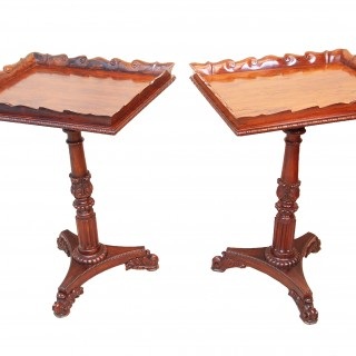 Antique Regency Rosewood Gillows Pair Of Lamp Tables