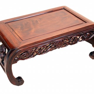 Antique Oriental Hardwood Opium Table