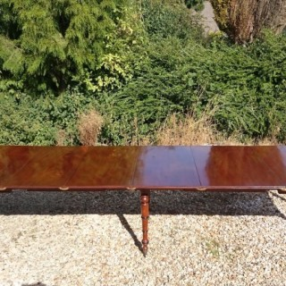 George III Period Mahogany Extending Dining Table With Built In Leaf Carrier