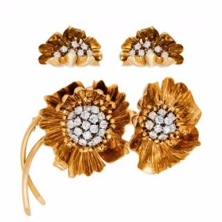 GOLD & DIAMOND DEMI-PARURE BY VAN CLEEF & ARPELS
