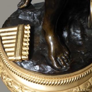 Gilt and Patinated Bronze Floor Standing Candelabrum