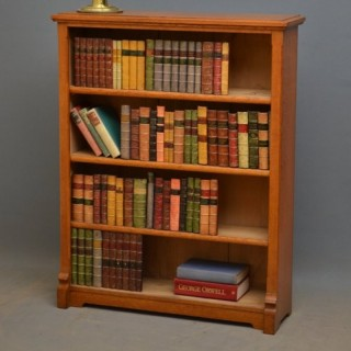 Small Victorian Oak Open Bookcase