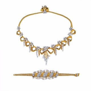 Gold and Diamond Demi-Parure by Mauboussin