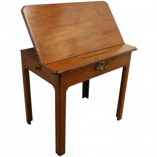 George III Figured Mahogany Architects Desk