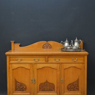 Fine Quality Art Nouveau Oak Sideboard