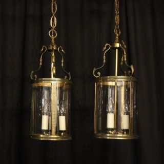 French Pair Of Empire Antique Hall Lanterns