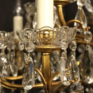 Italian Gilded 18 Light Antique Chandelier