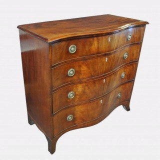 George III Serpentine Chest Of Drawers