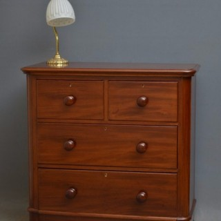 Victorian Mahogany Chest of Drawers by Maple