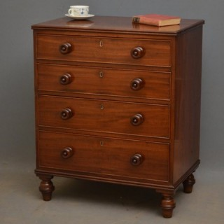 Small Georgian Mahogany Chest of Drawers