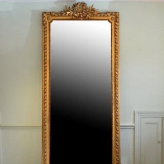 Large XIX Century Giltwood Mirror