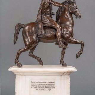 A fine early 19th century bronze sculpture of Marcus Aurelius